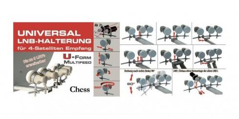 chess multifeed halter 4 fach lnb montage halterung. Black Bedroom Furniture Sets. Home Design Ideas