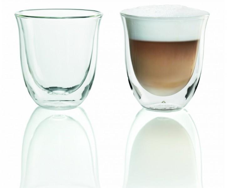 delonghi cappuccino gl ser 2 st ck set 190ml doppelwandig thermoglas kaffeeglas. Black Bedroom Furniture Sets. Home Design Ideas