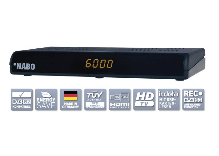 nabo hd star hd hdtv satelliten sat receiver f r die orf. Black Bedroom Furniture Sets. Home Design Ideas