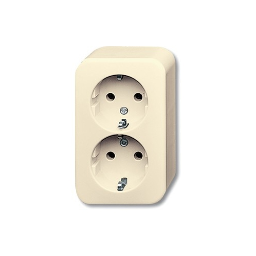 busch jaeger 2054 0 0351 aufputz schalter stecker schuko steckdose 2 fach. Black Bedroom Furniture Sets. Home Design Ideas